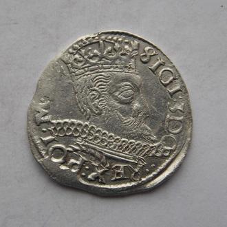 Трояк (3 гроша) 1597 року. Всхов, Сігізмунд III Ваза. Срібло, нечастий.