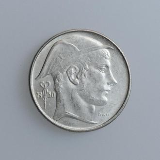 """Бельгия 20 франков 1950 г., UNC, """"Король Бодуэн I (1948 - 1993) /BELGIQUE/"""""""
