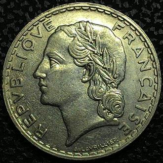 Франция 5 франков 1933 год НИКЕЛЬ!!! ОТЛИЧНАЯ!!!