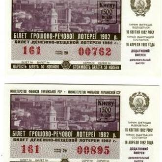 Киеву 1500 лет, Лотерея 50 копеек 1982 доп. выпуск