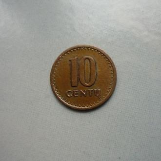 Литва 10 центов 1991
