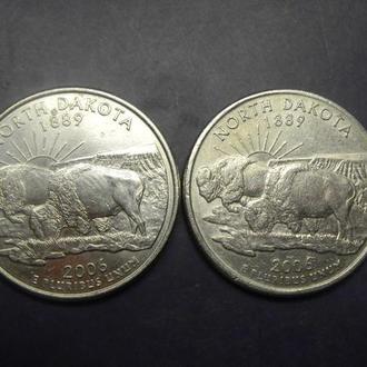 25 центів США 2006 Північна Дакота (два різновиди)