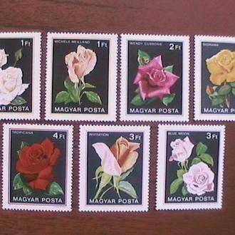 Венгрия 1982 Розы