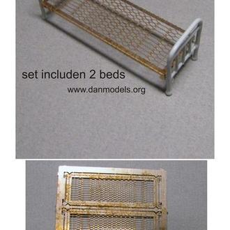 Danmodel 35229 - кровать армейская Набор 2 шт. материал - смола , фототравление.
