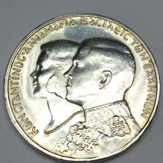 30 драхм 1964, Греция, Павел 1, королевская свадьба,  unc! Вес 11.96!  Штемпельная! Люкс!