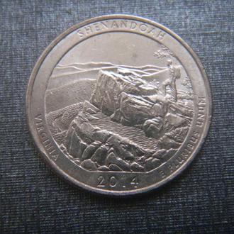 США 25 центов Национальный парк Шенандоа P 2014 (RL202)