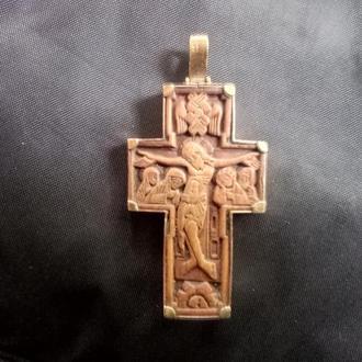 крест золото 583пр. дерево