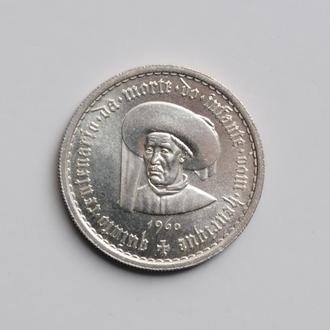 Португалия 10 эскудо 1960 г., UNC, '500 лет со дня смерти Принца Генриха'