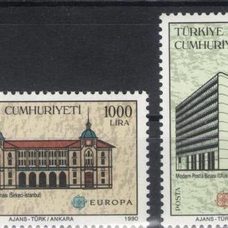 Турция - архитектура 1990 - Michel Nr. 2886-87 **