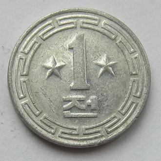 "Корея Северная (КНДР) 1 чон 1959 (KM#5) ""Две звезды"""