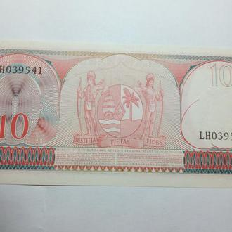 Суринам 10 гульденов 1963 г. р.121. UNC