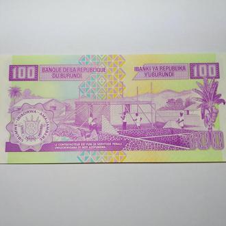 100 франков Бурунди 2007 Пресс, unc