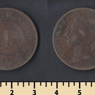 Стрейт Сетлментс 1 цент 1884