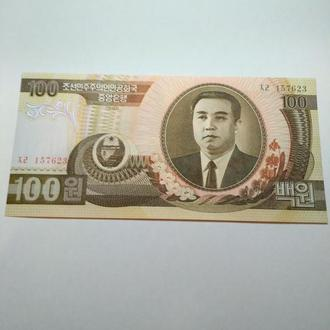 100 вон 1992 Северная Корея, пресс, unc, оригинал