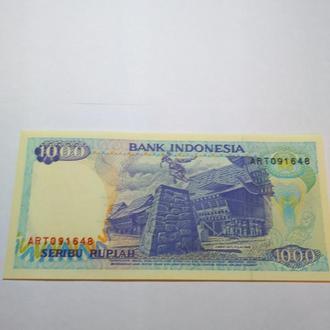 1000 рупий 1992 Индонезия, пресс, Unc, оригинал