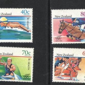 Новая Зеландия - олимпиада 1988 - Michel Nr. 1033-36 **