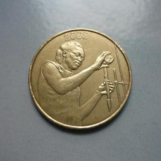 Западные Африканские тер-и 25 франков 2002 фауна