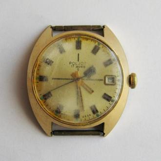 МУЖСКИЕ позолоченные часы ПОЛЕТ = механика = СССР = AU 10