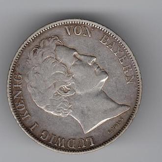 1842 год - 1 гульден - Бавария - Германия - серебро
