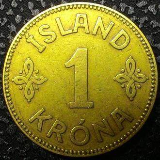 Исландия 1 крона 1940 год СОХРАН!!!