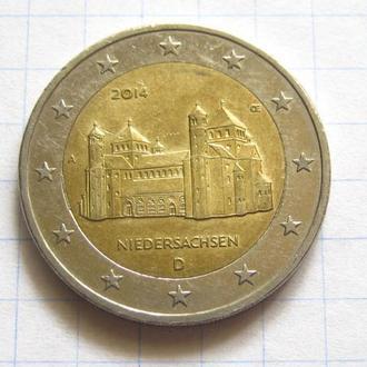 Германия_ 2 евро 2014  A Нижняя Саксония