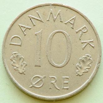 (А) Дания 10 эре, 1977