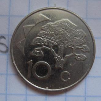 НАМИБИЯ, 10 центов 1998 года.