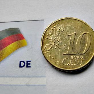 Евромонета 10 евроцентов Германии 2002 (А) год
