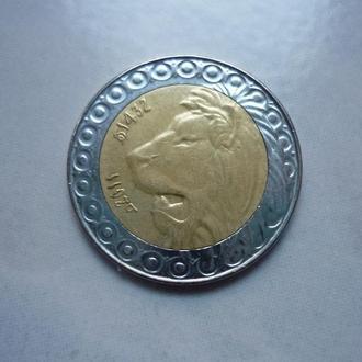 Алжир 20 динаров 2011 биметалл фауна состояние