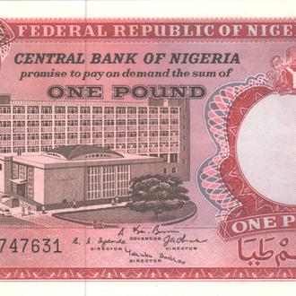 Нигерия 1 фунт 1967г. в UNC