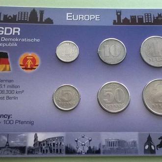 Набор монет ГДР пластик картон блистер запайка R