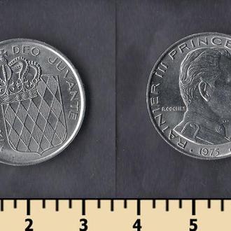 Монако 1 франк 1975