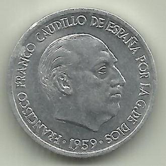 Испания Франко 10 сентимос 1959 aUNC