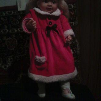 кукла в красном с платье 60 см