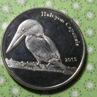 Шетландские острова Шотландия 2015 год монета 1 фунт птица !