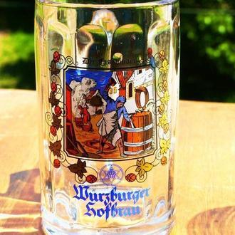 Пивной  бокал - германия WURZBURGER HOFBRAU 0.3