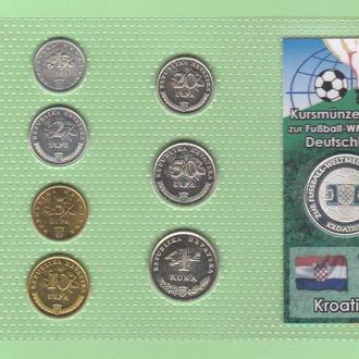 Набор ХОРВАТИЯ Чемпионат Мира - 2006 год а ФУТБОЛ пластик блистер запайка