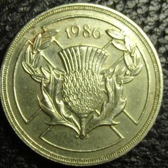 2 фунта 1986 Британія Ігри Співдружності