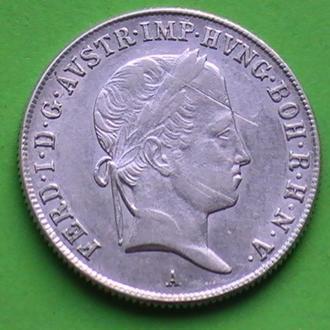 20 Крейцеров 1840 г А Австрия Серебро 20 Крейцерів 1840 р А Австрія Срібло