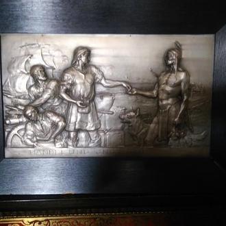 Картина, Германия, 19-й век, размер чекана 41х27 см