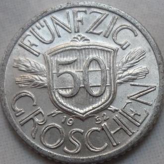 Австрия 50 грошей 1952 состояние
