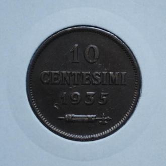 Сан-Марино 10 чентезимо 1935 г., 'Республика Сан-Марино (1864 - 1938)'