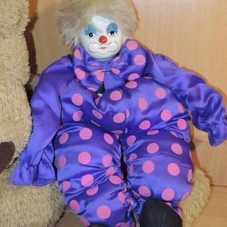 Кукла клоун коллекционный