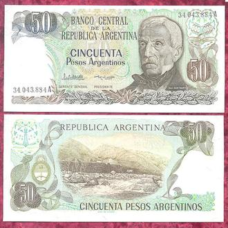 Боны Америка Аргентина 50  песо аргентинос 1983 г.
