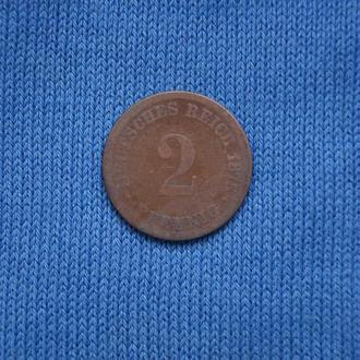 Германия 2 пфеннига 1975 г  С