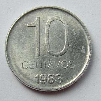 Аргентина 10 сентаво 1983 (KM#89)