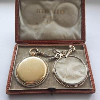 Золотые швейцарские карманные часы,1850-е,Женева