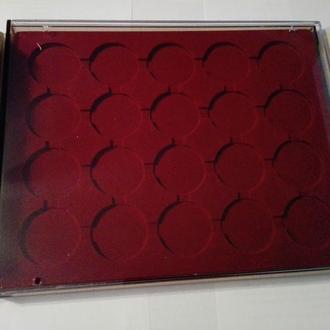 Бокс для монет (диаметр ячейки 44 мм) для монет 5 грн н/з или 10 грн серебро