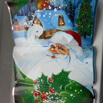 Пакет новорічний для подарунків до Миколая 35х20 см  Пакет подарочный новогодний к празднику Николая