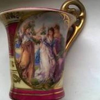 """Кофейная чашка, фарфор, клеймо """"улей"""", Австрия конец 19 века"""